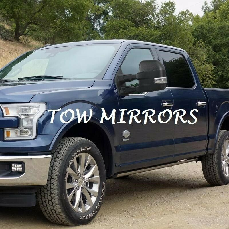 Pair Power Heated Tow Mirrors w/ Temp Sensor 8 Pins Fit 2015-19 Ford F150 Truck towing mirrors for Ford F150 truck