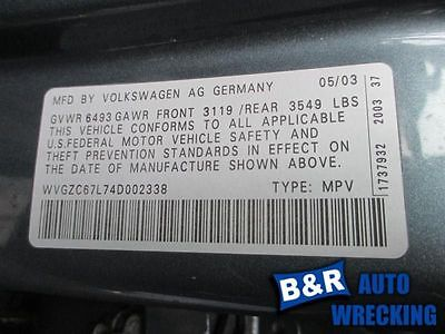 04 05 06 VW TOUAREG AIR FLOW METER 3.2L 7524537 336-60602 7524537
