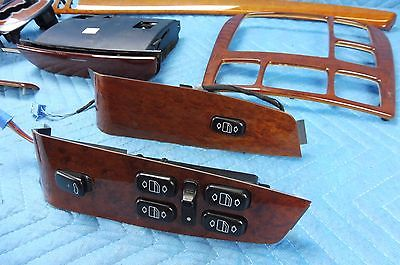 2000 2001 2002 MERCEDES S430 S500 Woodgrain Trim Moulding Full 14pc Set OEM