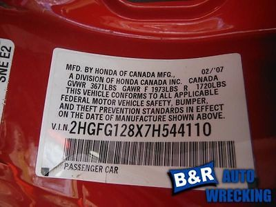 06 07 08 09 10 11 HONDA CIVIC AIR FLOW METER 1.3L MX HYBRID 9130800 336-60641B 9130800