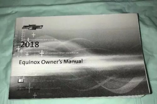 2018 CHEVROLET EQUINOX OWNERS MANUAL BOOKLET ONLY