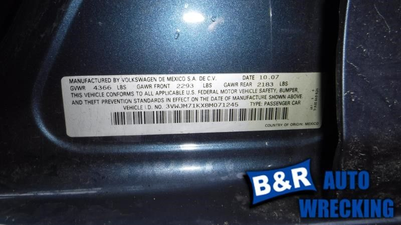 08 09 VW JETTA ENGINE ECM 8641848 8641848