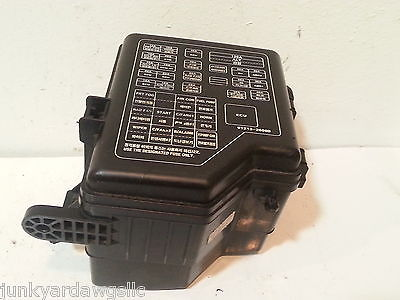 099f26e2 393a 4c13 9e24 03c7097aeab4 2003 hyundai santa fe fuse box block panel used 91288 26101 oem  at bakdesigns.co