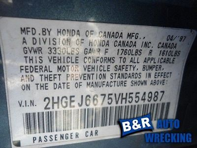 CHASSIS ECM MULTIFUNCTION INTEGRATED CONTROL ON FUSE BOX FITS 96-00 CIVIC 418040 591-50452B 4180407