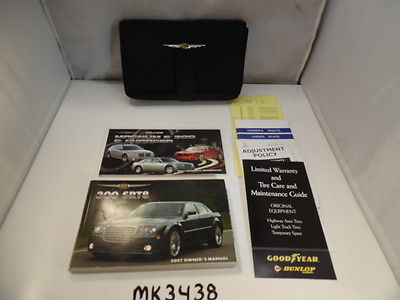 07 2007 <em>CHRYSLER</em> <em>300</em> VEHICLE OWNERS MANUAL BOOK HANDBOOK MK3438