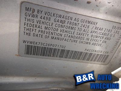 05-11 12 13 14 15 16 VW JETTA BLOWER MOTOR SDN SINGLE ZONE CLIMATIC 9191828 615-58677 9191828