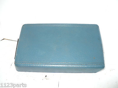 87 88 Nissan Stanza Center Console Lid Cover Top OEM Blue