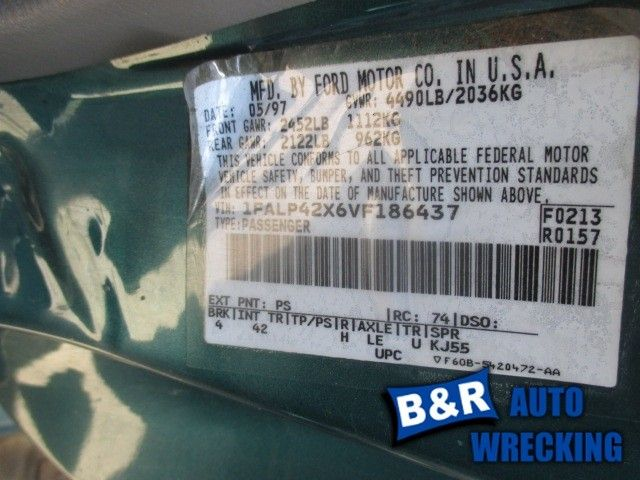 PASSENGER RIGHT LOWER CONTROL ARM FR 8 CYL FITS 97-98 MUSTANG 7577887 512-01557BR 7577887