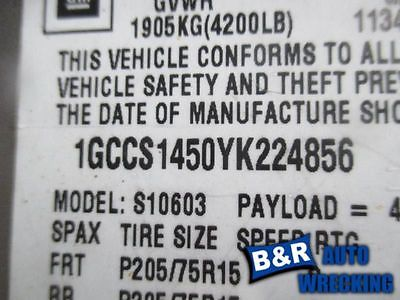 95 96 97 98 99 00 01 02 03 S10 PICKUP STEERING GEAR/RACK POWER STEERING 4X2 551-01833 8355572