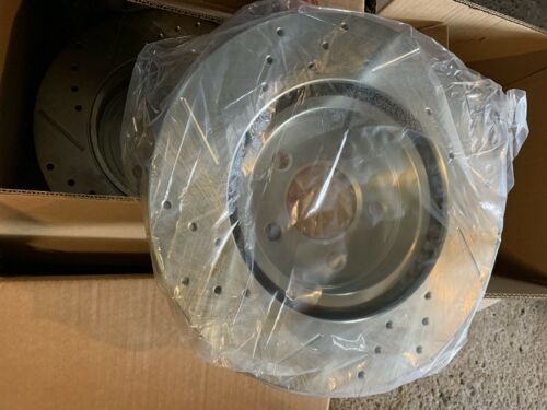 front rear drilled slotted brake rotors K1715