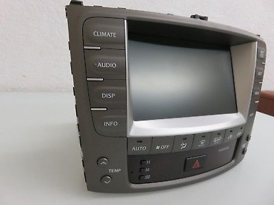 06-08 LEXUS IS250 IS350 GPS NAVIGATION DISPLAY SCREEN CLIMATE CONTROL HEAD UNIT 8611153140