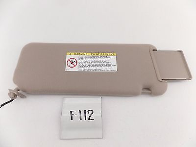 OEM SUN VISOR TOYOTA SIENNA 98 99 TAN LH NICE LIGHTED no miles 74320-AE040