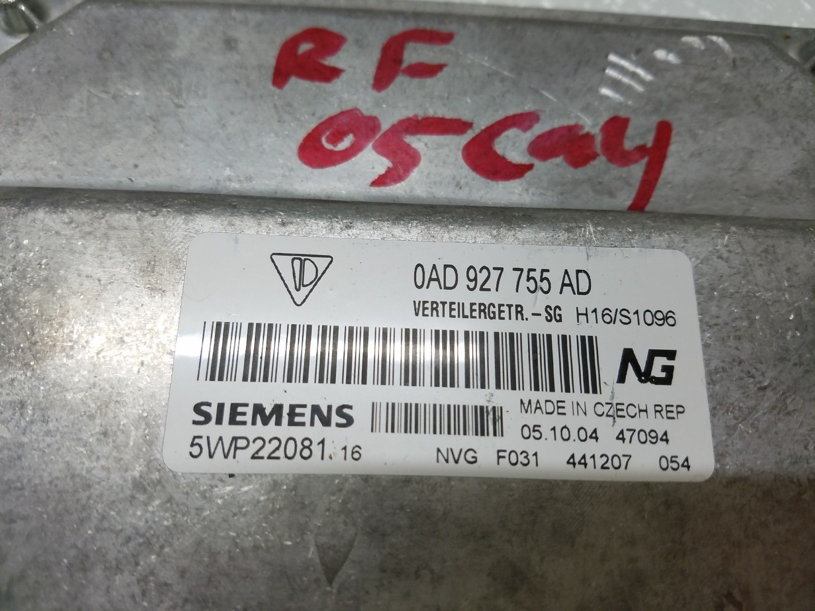 2005-2006 PORSCHE CAYENNE AUTOMATIC TRANSFER CASE COMPUTER MODULE 0AD927755AD Does not apply