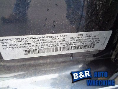 05-09 10 11 12 13 14 VW JETTA WINDSHIELD WIPER MTR SDN VIN J OR VIN K 8TH DIGIT 8548908