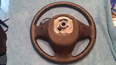 2012 BMW X3 28iX, Used Leather Steering Wheel - Black 2435376385