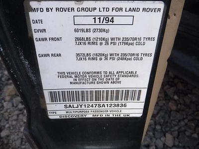 94 95 LAND ROVER DEFENDER L. CORNER/PARK LIGHT 9025148 9025148