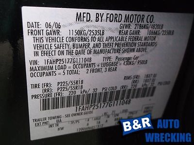 07 FIVE HUNDRED ENGINE ECM ELECTRONIC CONTROL MODULE CVT ID 7G1A-MB AND MC 590-00453 9220149