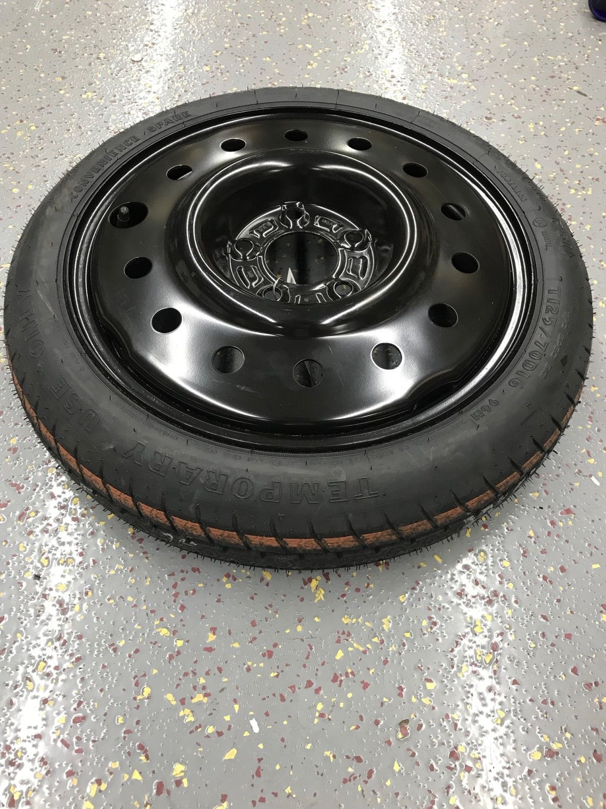 GoodYear Buick LaCrosse Part T125 70 D16 96M  Spare Donut Tire Wheel Assembly