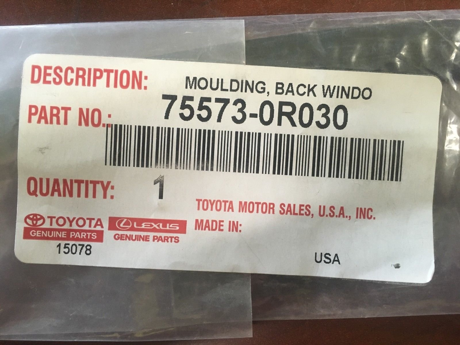 Genuine OEM Toyota RAV4 Reveal Molding 75573-0R030 Right Side