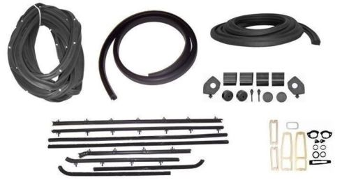 1967 Nova Chevy II 2 Door Sedan / Post Car Weatherstrip Seal Kit