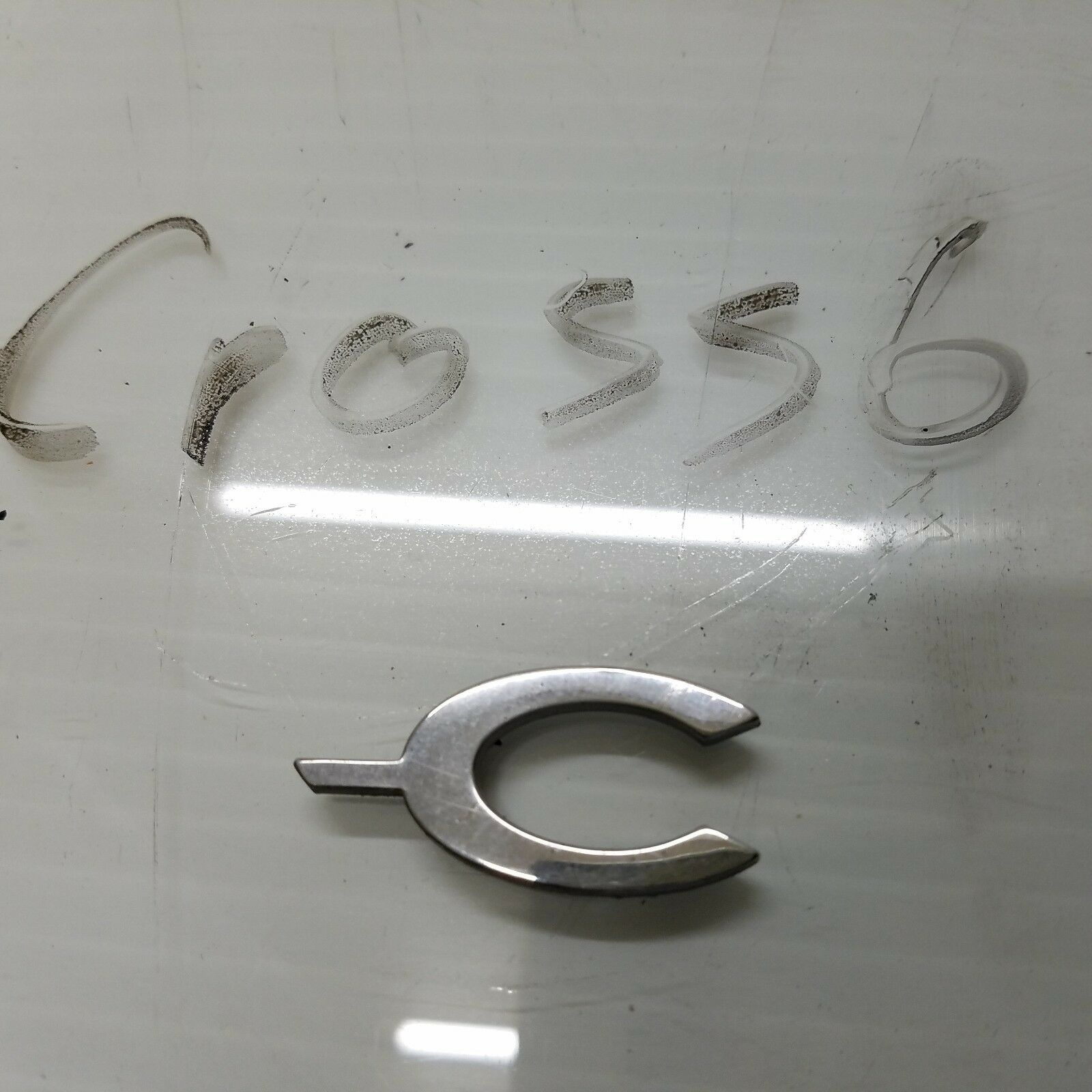 2004-2008 CHRYSLER CROSSFIRE REAR COUPE TRUNK BADGE SIGN LETTER