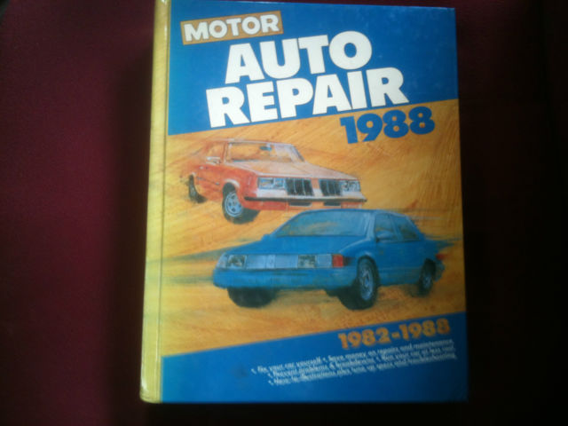 Motor Auto Repair 1982-1988 83 84 85 86 87 Manual Good Condition