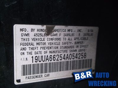 04 ACURA TL ENGINE ECM ELECTRONIC CONTROL MODULE LOWER CENTER DASH 3.2L AT 8883688