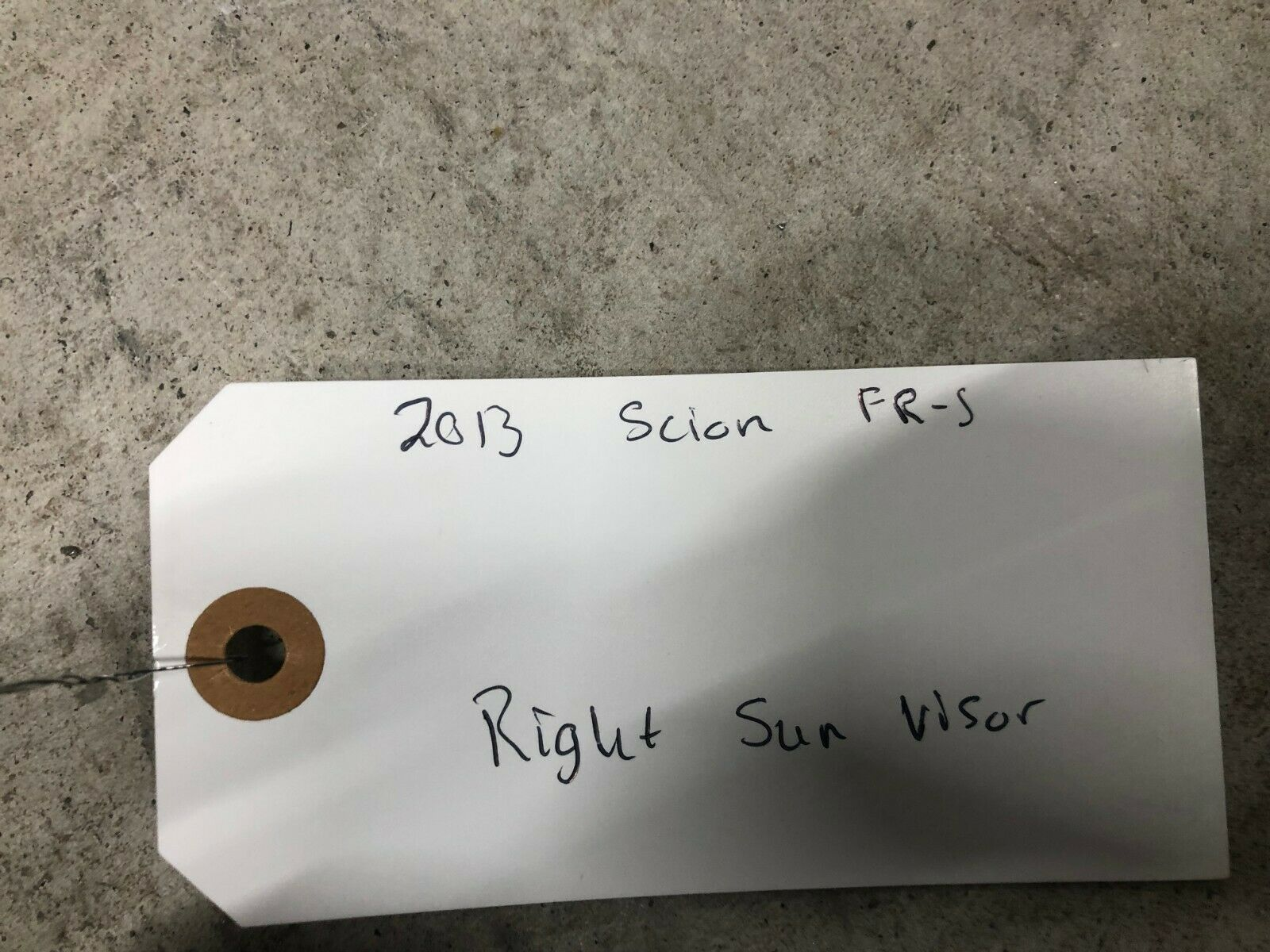 2013 2014 2015 2016 Subaru Scion FRS/BRZ Limited Front Right Sun Visor OEM