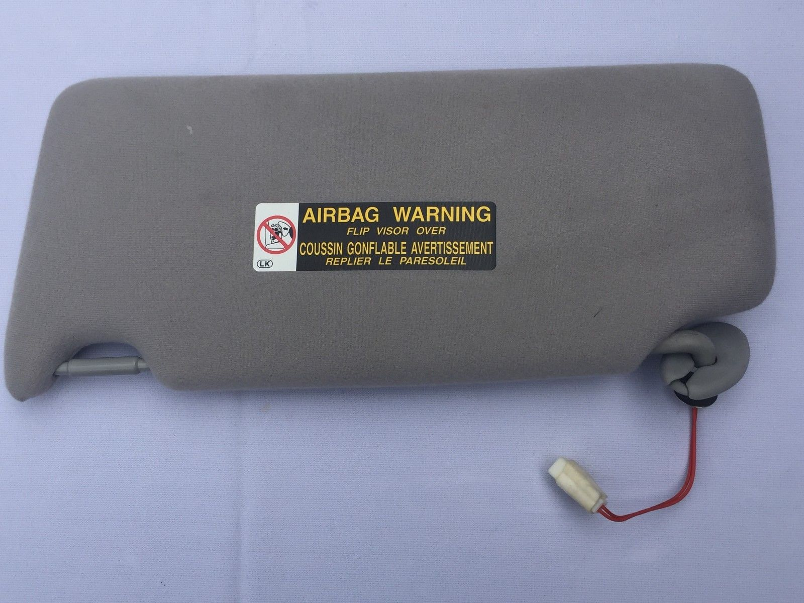 2005 LEXUS RX 330 PASSENGER SIDE (RIGHT) SUN VISOR GRAY OEM