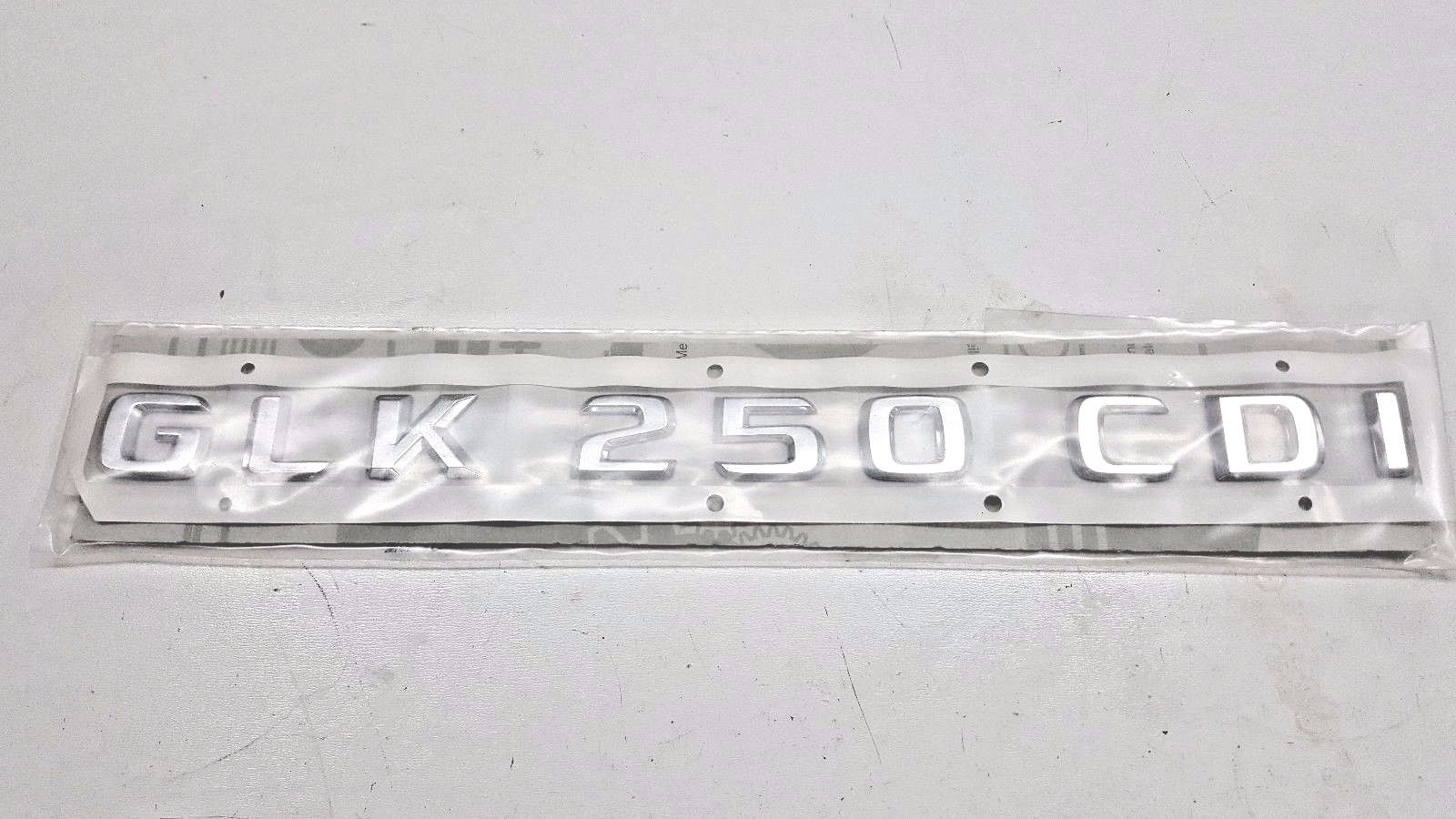 MERCEDES GLK250CDI REAR TRUNK LID EMBLEM CHROME 2048172215 OEM  A 204 817 22 15