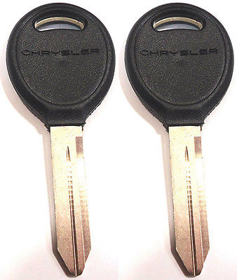 2 NEW <em>CHRYSLER</em> DOODGE JEEP NON-TRANSPONDER (CHIP) UNCUT KEY BLANK 690230 LOGO