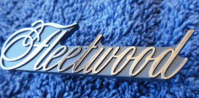 NOS NEW OEM 74-76 Cadillac Fleetwood Talisman Roof Sail Panel Emblem Nameplate