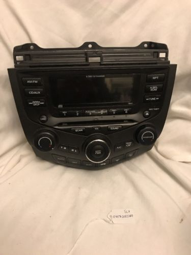 Honda Accord 6 disc CD changer RADIO CLIMATE CONTROL ac heat UNIT 03-07 39175SDAA110