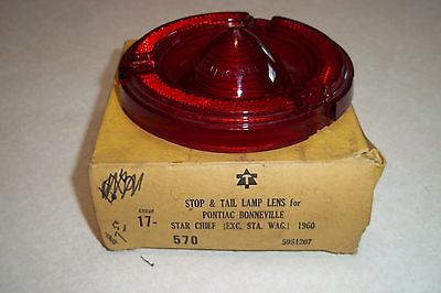 NOS 1960 Pontiac Bonneville Chieftain Super Chief Star Chief Taillight Lens NOS