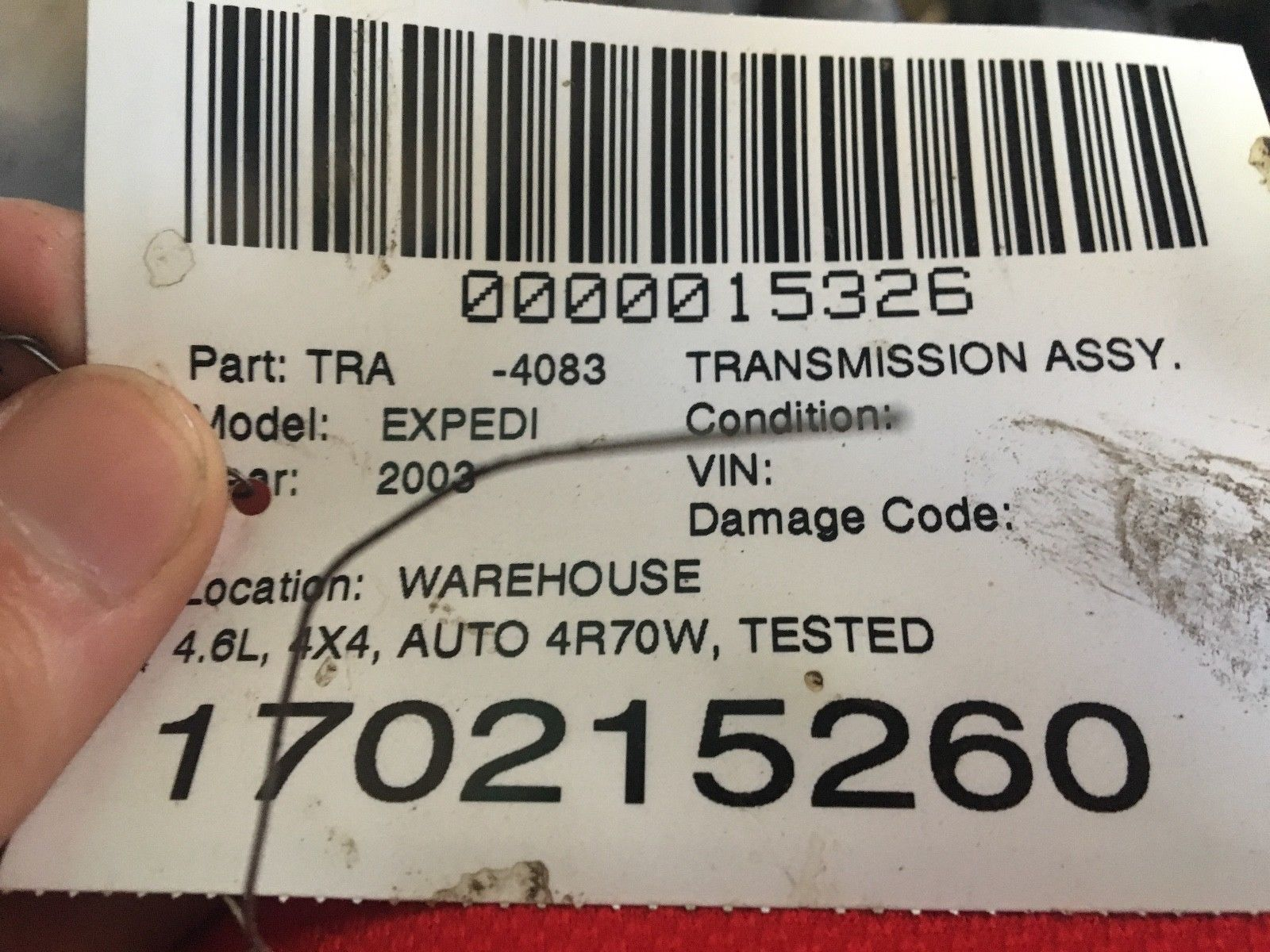 Transmission Assy. FORD EXPEDITION 03