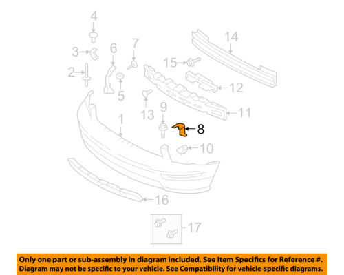 FORD OEM 05-09 Mustang Front Bumper-Support Bracket Bracket Right 5R3Z8B455AA