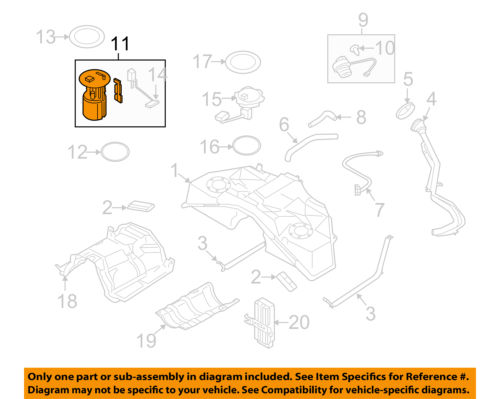 Infiniti NISSAN OEM 09-13 FX50-Fuel Pump 170401CB0D ... on fuse box diagram, front end assembly diagram, ignition coil diagram, fuel system diagram, rear suspension diagram, fuel line diagram, fuel pumps aeromotive 340 hp, carburetor diagram, camshaft diagram, fuel regulator diagram, fuel tank diagram,