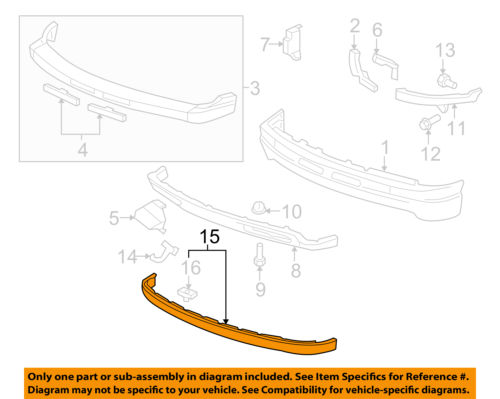 Chevrolet GM OEM 05-06 Tahoe Front Bumper-Extension Panel 15224193