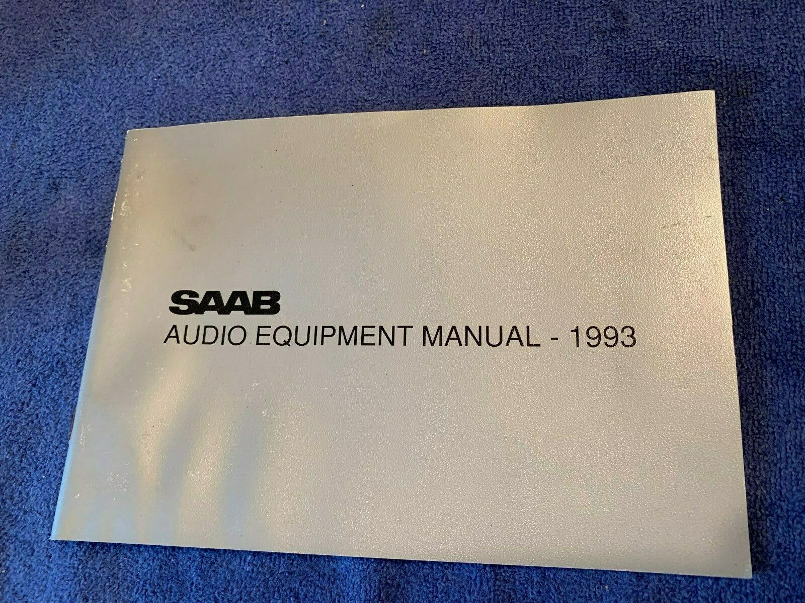 1993 Classic Saab 900  OEM Factory Stereo Audio Equipment Owners Manual