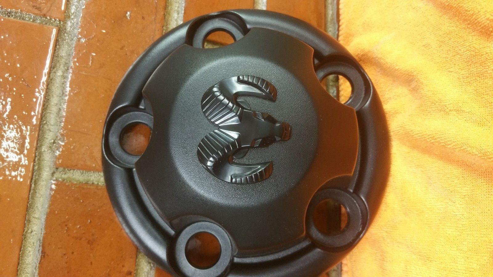 DODGE Ram 1500 Center Wheel Cap 52038266 Black Does not apply
