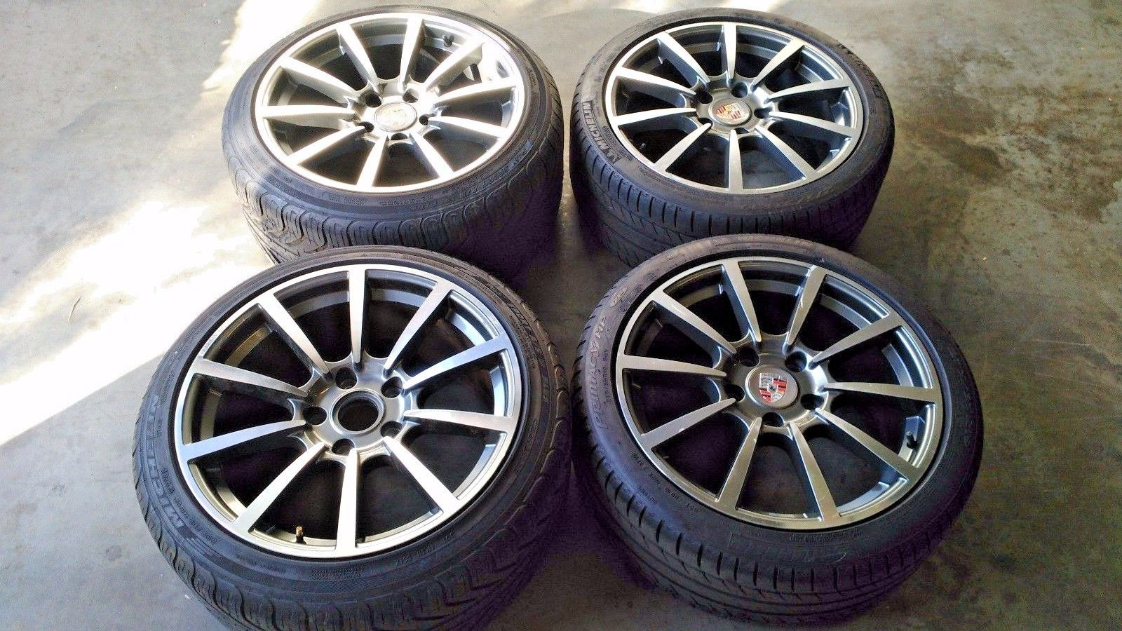 Porsche 911 991 Style Carrera Classic 19 inch 4 WHEELS with Michelin TIRES