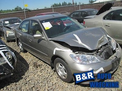 04 05 HONDA CIVIC AUDIO EQUIPMENT AM-FM-CD SDN 1.3L MX HYBRID 7777448 7777448
