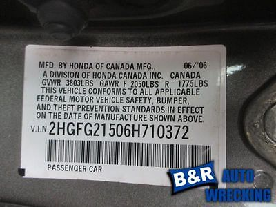 06 07 08 09 10 11 HONDA CIVIC R. LOWER CONTROL ARM FR 1.3L 1.8L SOHC 8899728 8899728