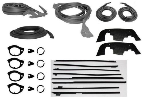 1967-1968 Impala Caprice 4 Door Hardtop Weatherstrip Seal Kit Does Not Apply KIT235-16