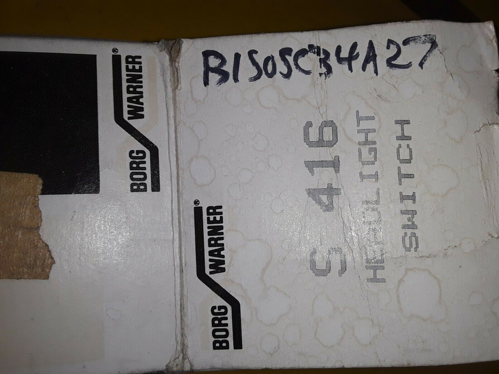 BORG WARNER HEADLIGHT SWITCH S416 Does not apply