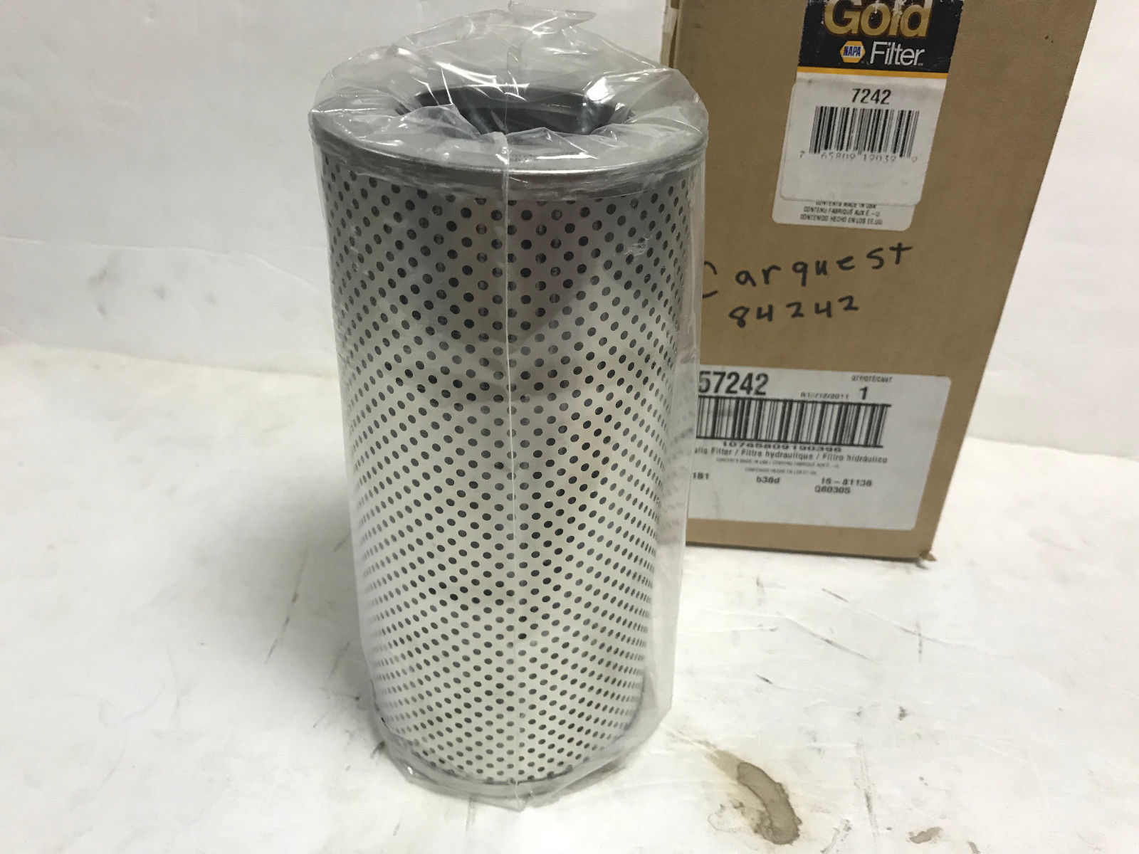 (LOT OF 2) 7242 NAPA HYDRAULIC FILTER HF28979 HF6354 For Komatsu