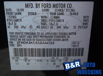 07 08 09 10 11 12 13 14 FORD EDGE BLOWER MOTOR FRONT 9122009 615-00129 9122009