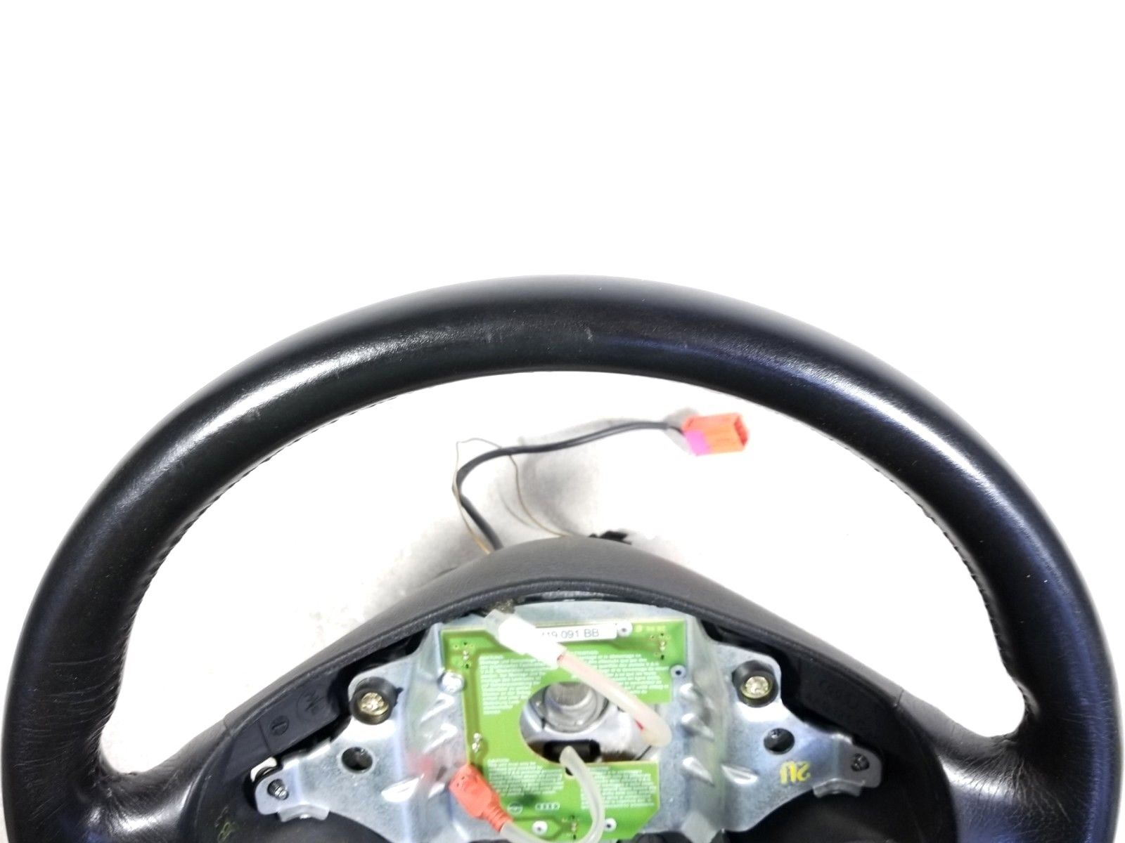 1996 - 1999 Audi A4 B5  Leather Steering Wheel w/ Clock Spring OEM 4B0419091G42H Does not apply