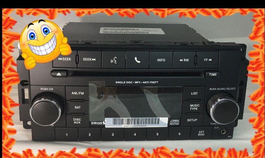 Jeep Wrangler AM/FM Sirius AUX input P68252825AC Does not apply