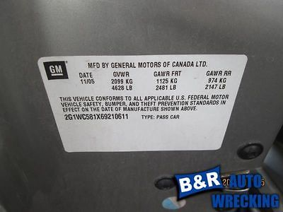06 07 IMPALA ANTI-LOCK BRAKE PART ASSEMBLY W/O TRACTION CONTROL 8209053 8209053